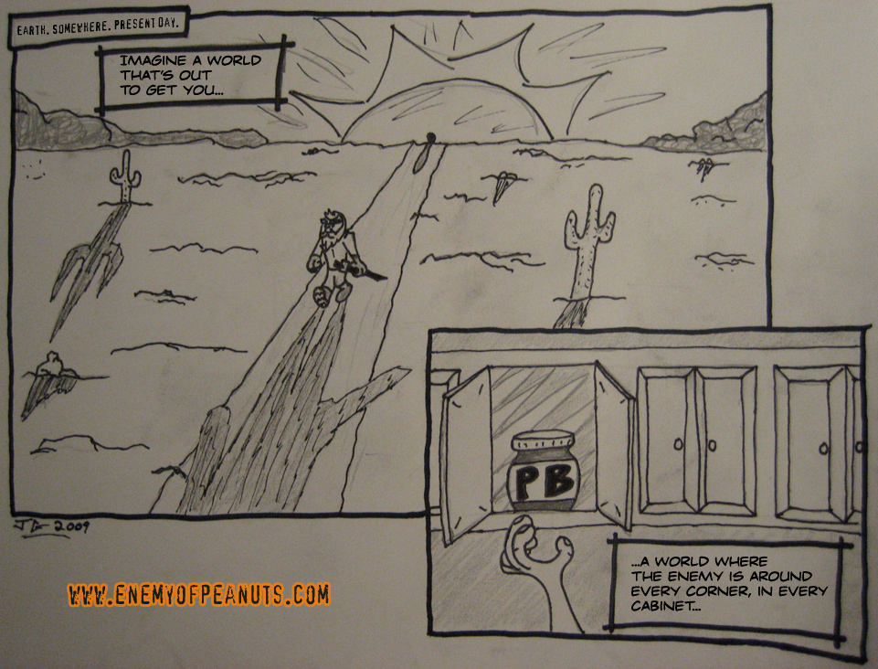 'EoP: The Webcomic' Part 1. Just a straight photo of my drawing with text added (yes, I need a scanner).