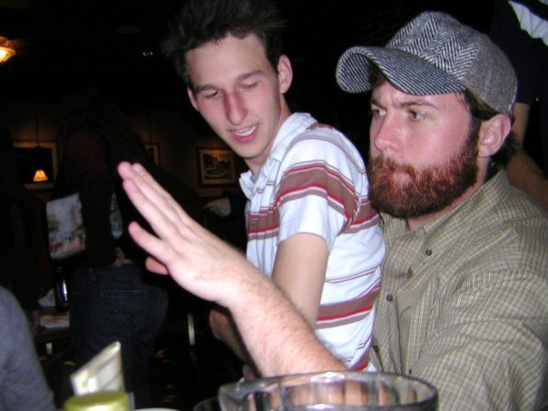 """""""Pass me a glass for this pitcher o' beer, and yes, this is a gay man in my lap."""""""