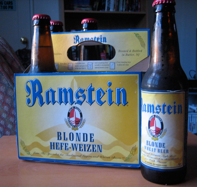 Ramstein has...no catchy on-bottle slogan.