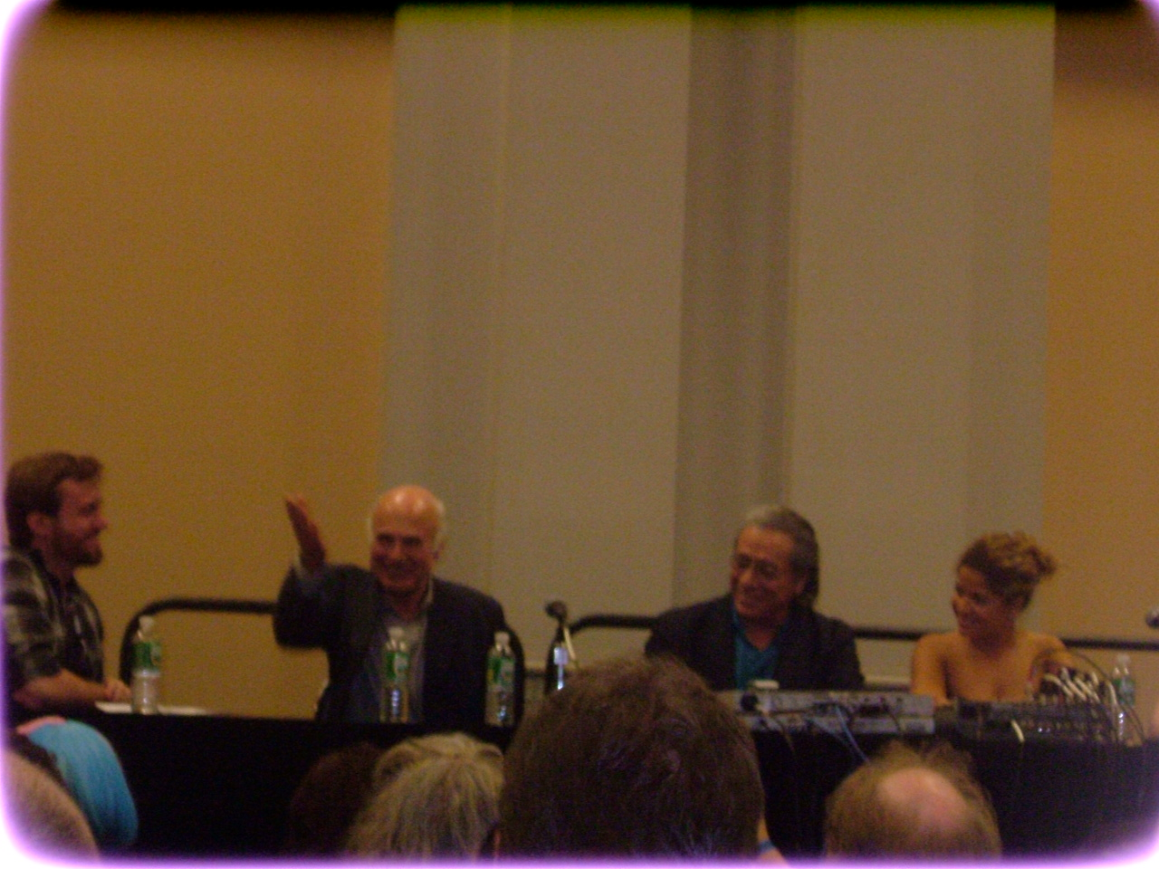 From left to right: Me, Michael Hogan, Edward James Olmos and Lucianna Carro. Nicki Clyne was to Carro's left.