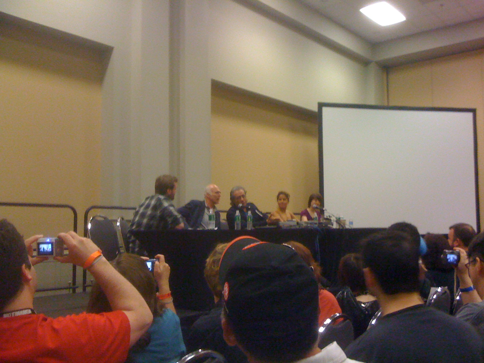 If you are one of these panel-goers snapping pics, I want them! Email me at jimgibbons1-AT-gmail-DOT-com!