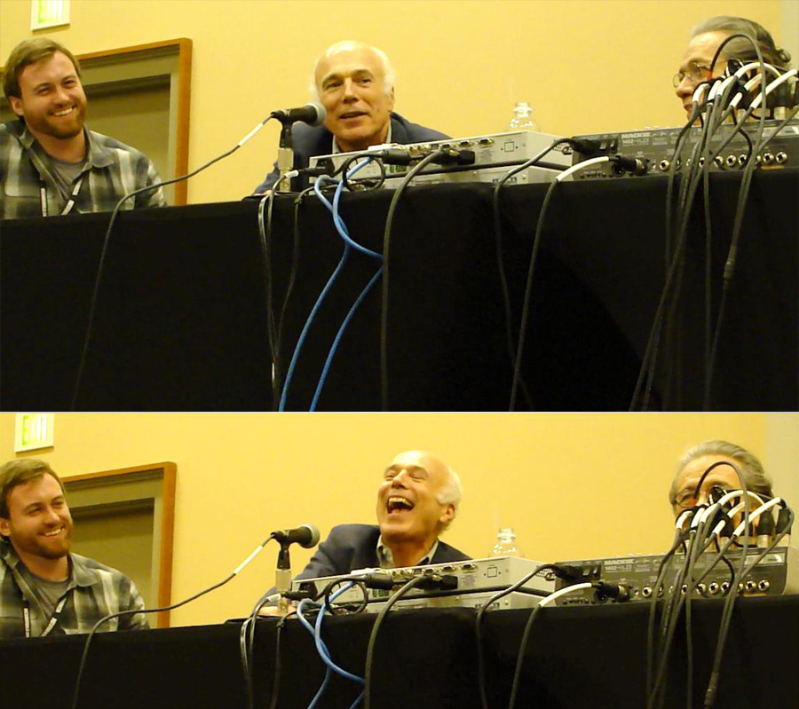 The panel was full of laughs. Here's a two-part version of one.