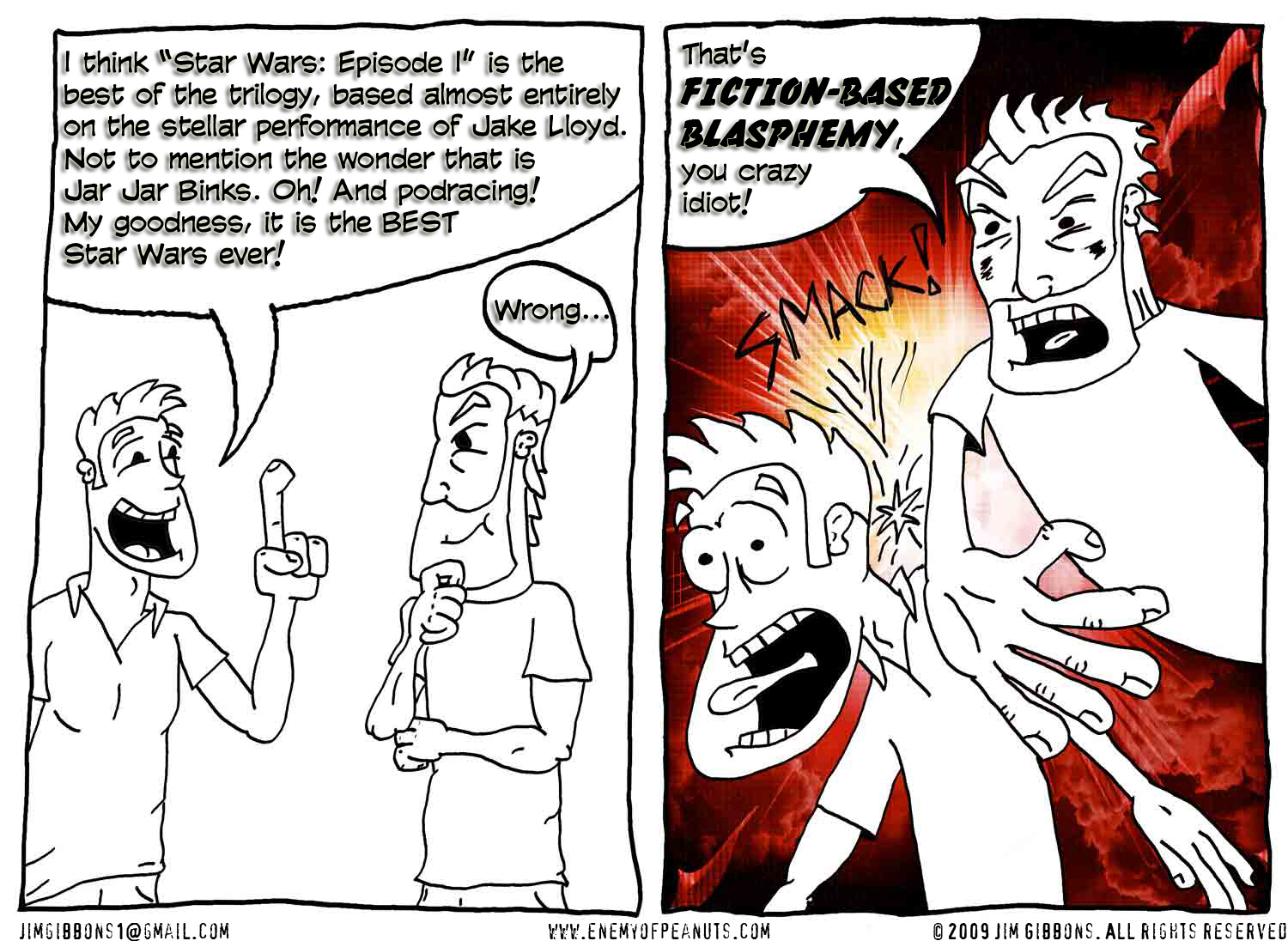 By Me (Jim Gibbons). This, and all other strips here, can be clicked on and enlarged.