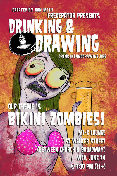 Drinking and drawing?! Likely a flawless combo.