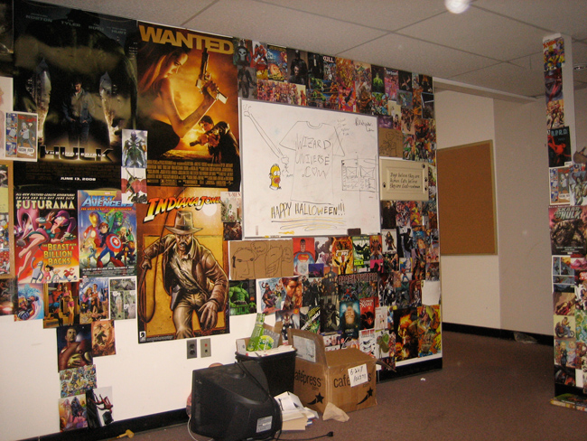 More posters,<i> Previews</i> and panels adorning the walls.
