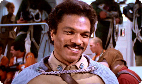 The smoothiest mother trucker in the galaxy: Lando Calrissian/Billy Dee Williams.