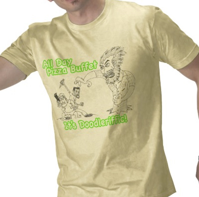 "<a href= ""http://www.enemyofpeanuts.com/2009/09/22/all-day-pizza-buffet-fight/"">""Fight!""</a> gets the t-shirt treatment!"