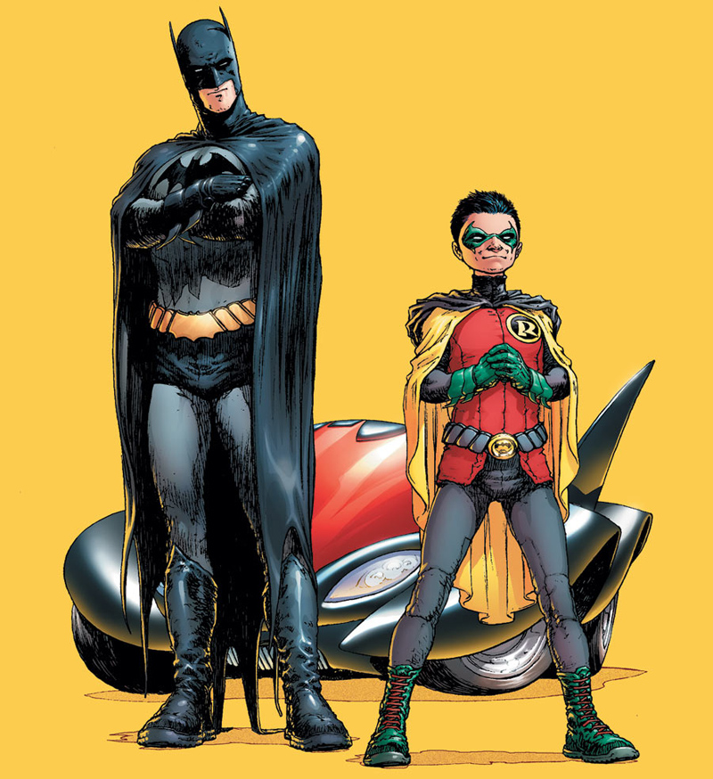 Morrison is currently writing <em>Batman & Robin</em> at DC Comics.