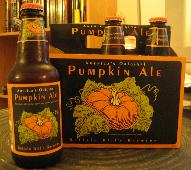 America's Original Pumpkin Ale from Buffalo Bill's Brewery. (Click to Enlarge)