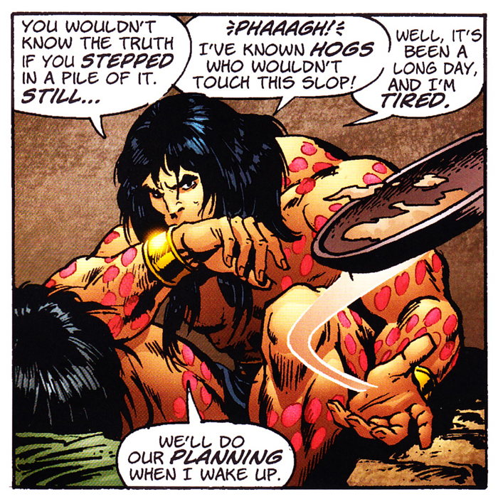 by crom  conan can frisbee