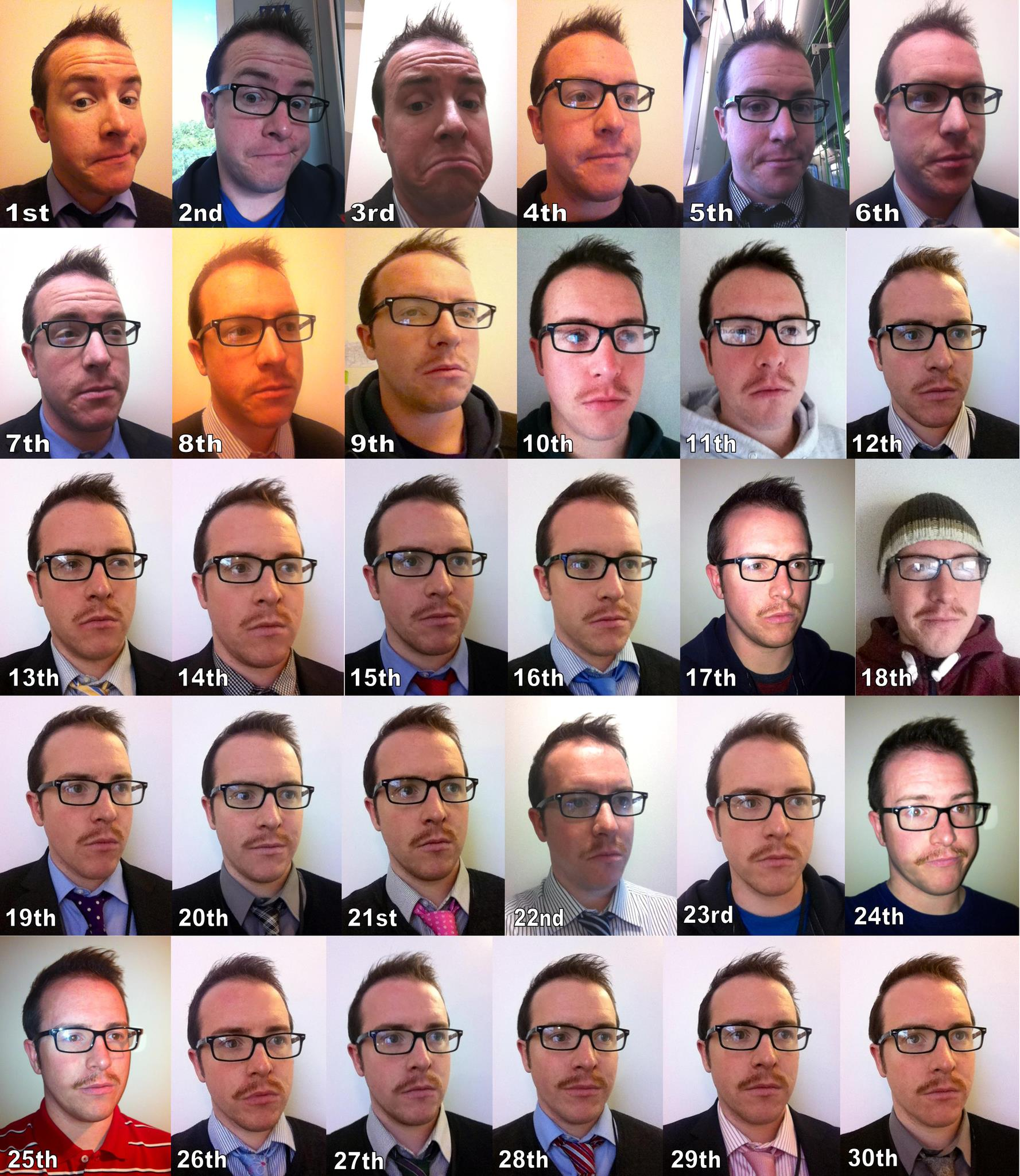 Chris Owens: Movember 1 through 30, 2012 (International)