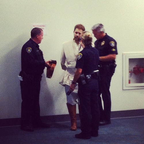Here's Obi-Wan Kenobi getting arrested at Comic-Con, because why not?!
