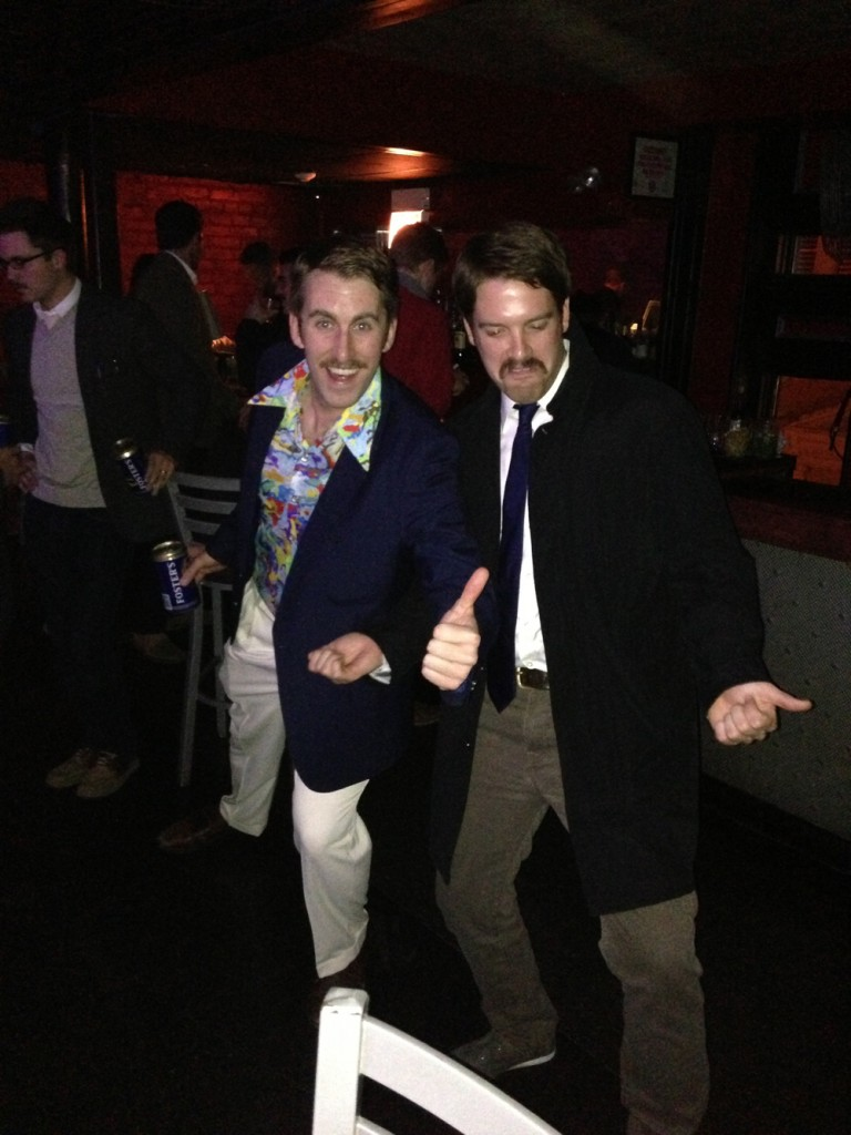 Corey Abad and Dan Gibbons at the Chicago Movember Gala Party.