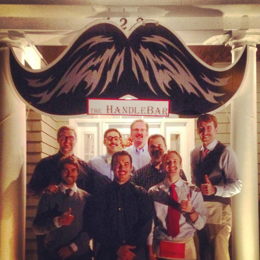 Members of the Midwest Chapter during their massive mustache bash!