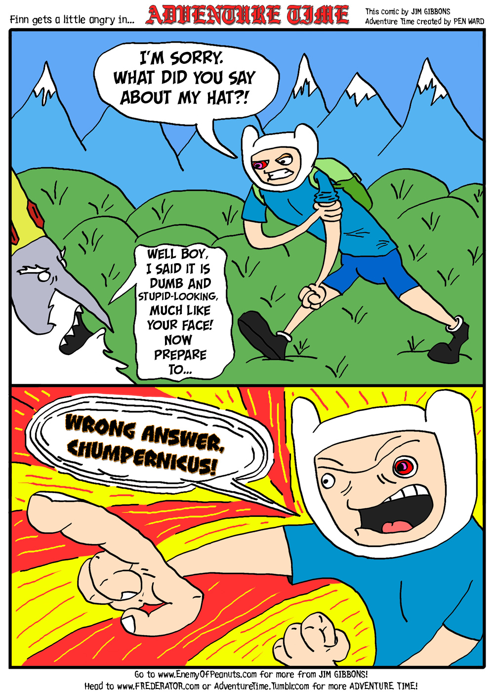 Adventure Time Sex Pictures my 'adventure time' fan art comic strip   enemy of peanuts